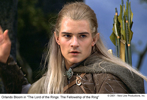 pictures of orlando bloom in lord of the rings